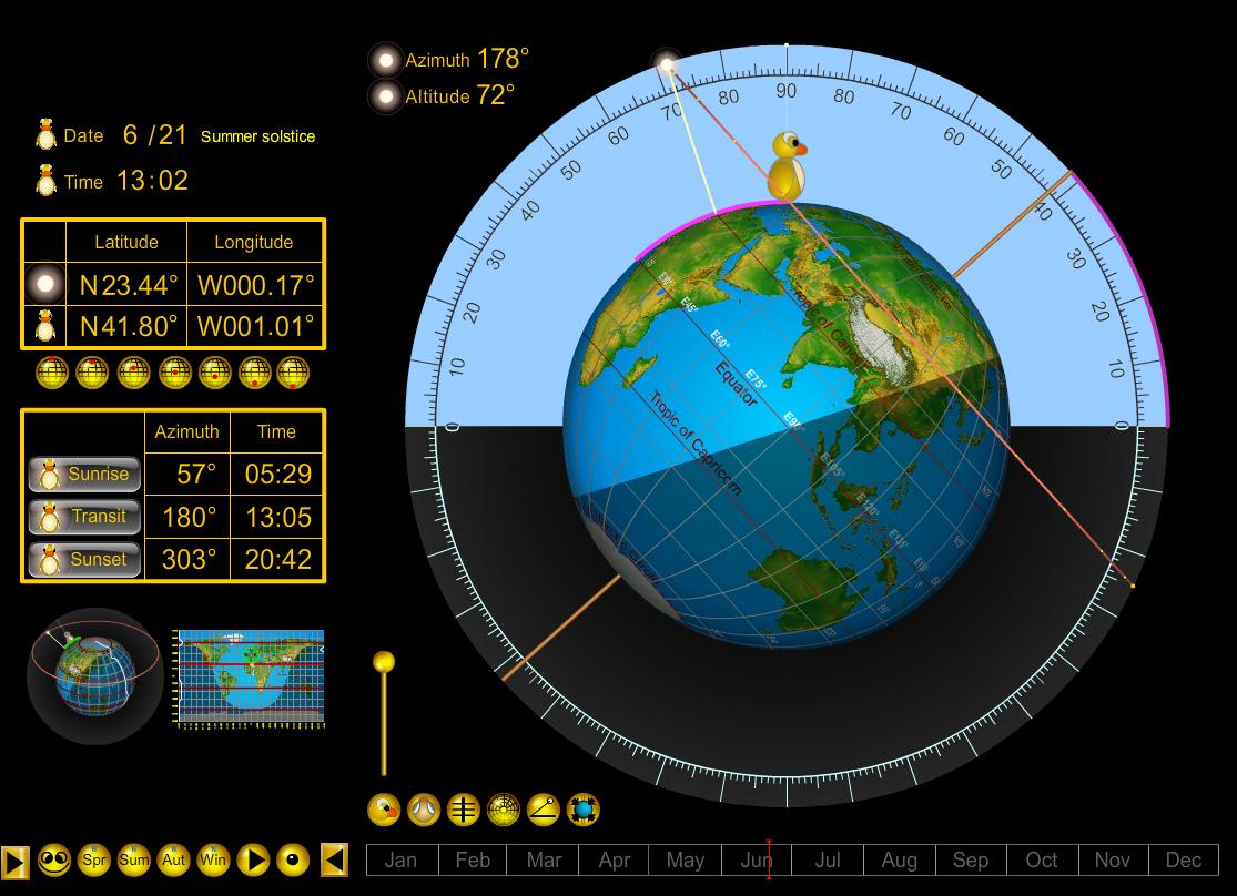 Sun Path Simulator 3D Online